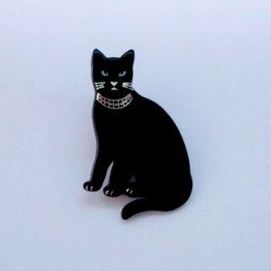 Vintage Black Cat Pin or Brooch